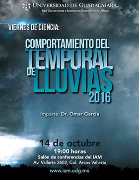 Cartel con texto del evento e imagen de nubes