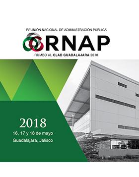 Cartel con texto informativo con respecto a la Reunión Nacional de Administración Pública, evento a efectuarse el 16, 17 y 18 de mayo en Guadalajara Jalisco.