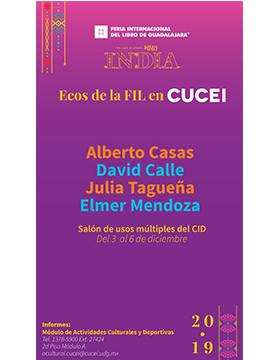 ECOS de la FIL en CUCEI a llevarse a cabo del 3 al 6 de diciembre.