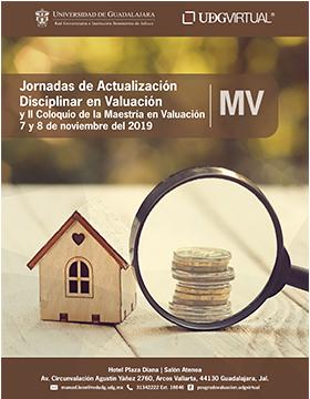 Jornadas de Actualización Disciplinar en Valuación y II Coloquio de la Maestría en Valuación  a  llevarse a cabo el 7 y 8 de noviembre.