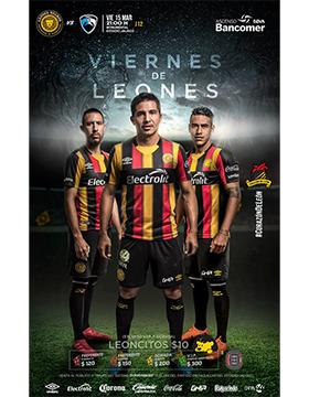 Cartel informativo del evento: Viernes de Leones. A realizarse el 15 de marzo, a las 21:00 horas, en el Estadio Jalisco.