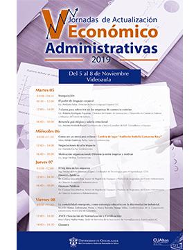 V Jornadas de Actualización Económico Administrativas 2019 a llevarse a cabo del 5 al 8 de noviembre.