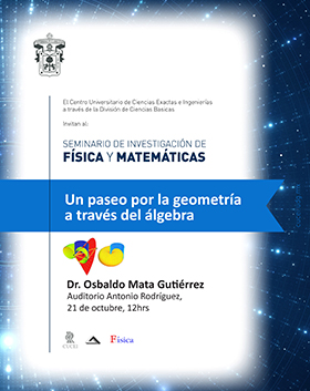 """Cartel con información del """"Seminario de Investigación de Física y Matemáticas"""""""