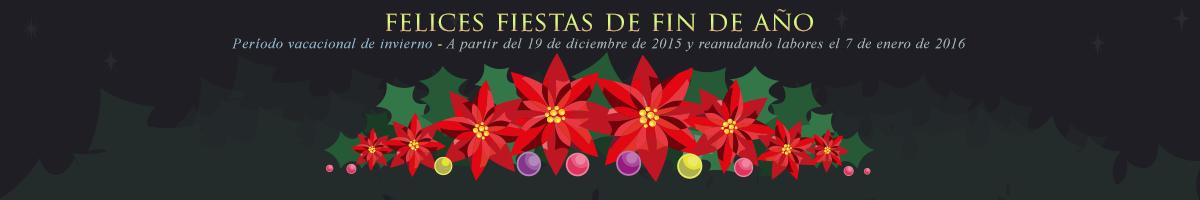 19 de diciembre de 2015 y reanudando actividades el 7 de enero de 2016
