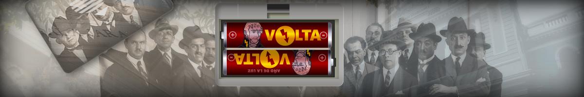 ilustración con pilas voltaicas, simulando estar en la portada del portal UDG.MX