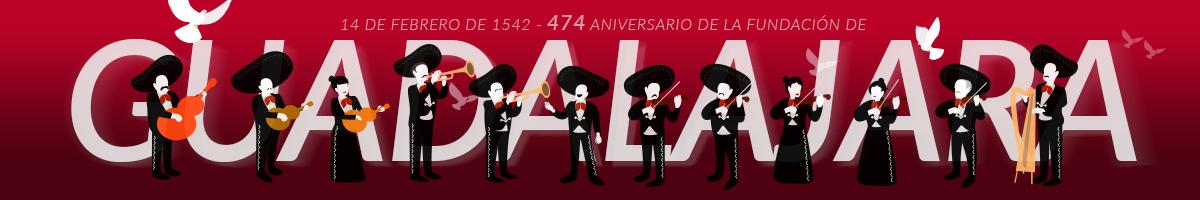 Articulo con motivo del 474 aniversario de la fundacion de Guadalajara y del nacimiento de Pepe Guízar autor de  la canción Guadalajara