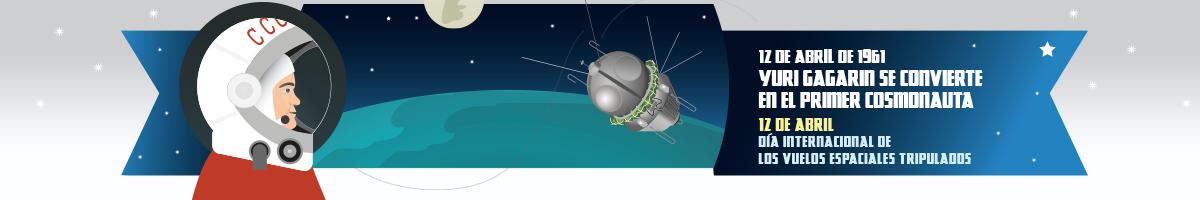 Articulo en el aniversario del primer viaje espacial tripulado por una persona