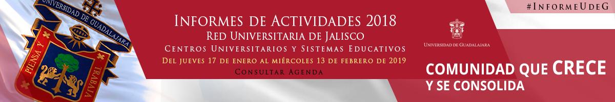 Agenda de Informes de Actividades 2018 de la Red Universitaria de Jalisco
