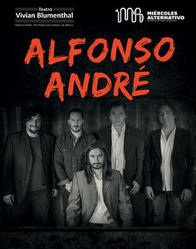 Cartel con la información de la presentación de la Banda Alfonso André, en el Teatro Vivian Blumental, dentro de las actividades de los miércoles alternativos.