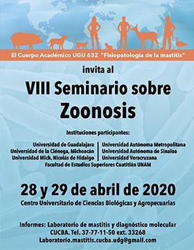 VIII Seminario sobre Zoonosis a llevarse a cabo el 28 y 29 de abril en el CUCBA.