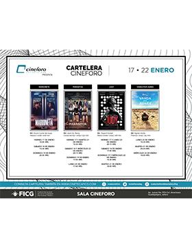 Cartelera semanal de Cineforo. Del 17 al 22 de enero.