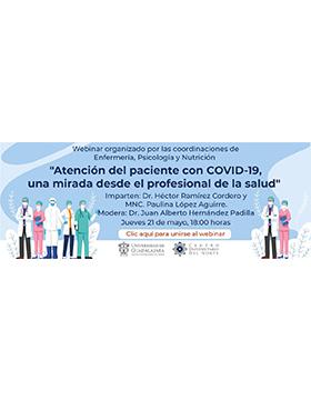 Webinar: Atención del paciente con COVID-19, una mirada desde el profesional de la salud