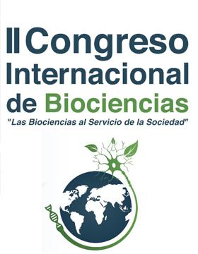 Cartel informativo para promocionar Congreso Internacional de Biociencias que desarrollará el 19 y 20 de septiembre