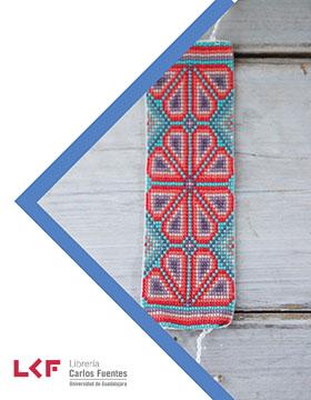 Cartel informativo sobre el Taller de oficios: Tejido en telar para chaquira, el 23 de febrero, de 10:00 a 14:00 h. en el Salón planta alta, Librería Carlos Fuentes