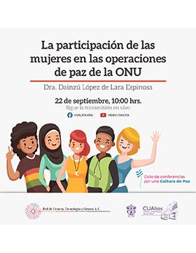 Conferencia: La participación de las mujeres en las operaciones de paz de la ONU