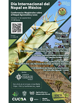 Ciclo de conferencias en el marco de la celebración del Día Internacional del Nopal en México