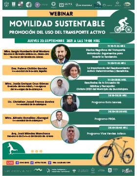 Webinar: Movilidad sustentable: Promoción del uso del transporte activo