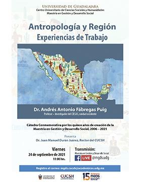 Conferencia: Antropología y región. Experiencias de Trabajo