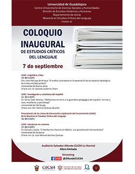 Coloquio inaugural de Estudios Críticos del Lenguaje