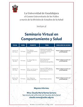 Seminario Virtual en Comportamiento y Salud