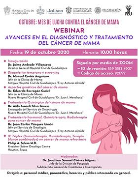 Webinar: Avances en el diagnóstico y tratamiento del cáncer de mama
