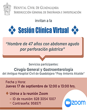 Sesión clínica virtual