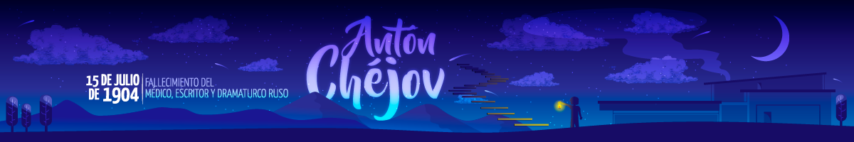 Ilustración del tributo a Antón Chéjov