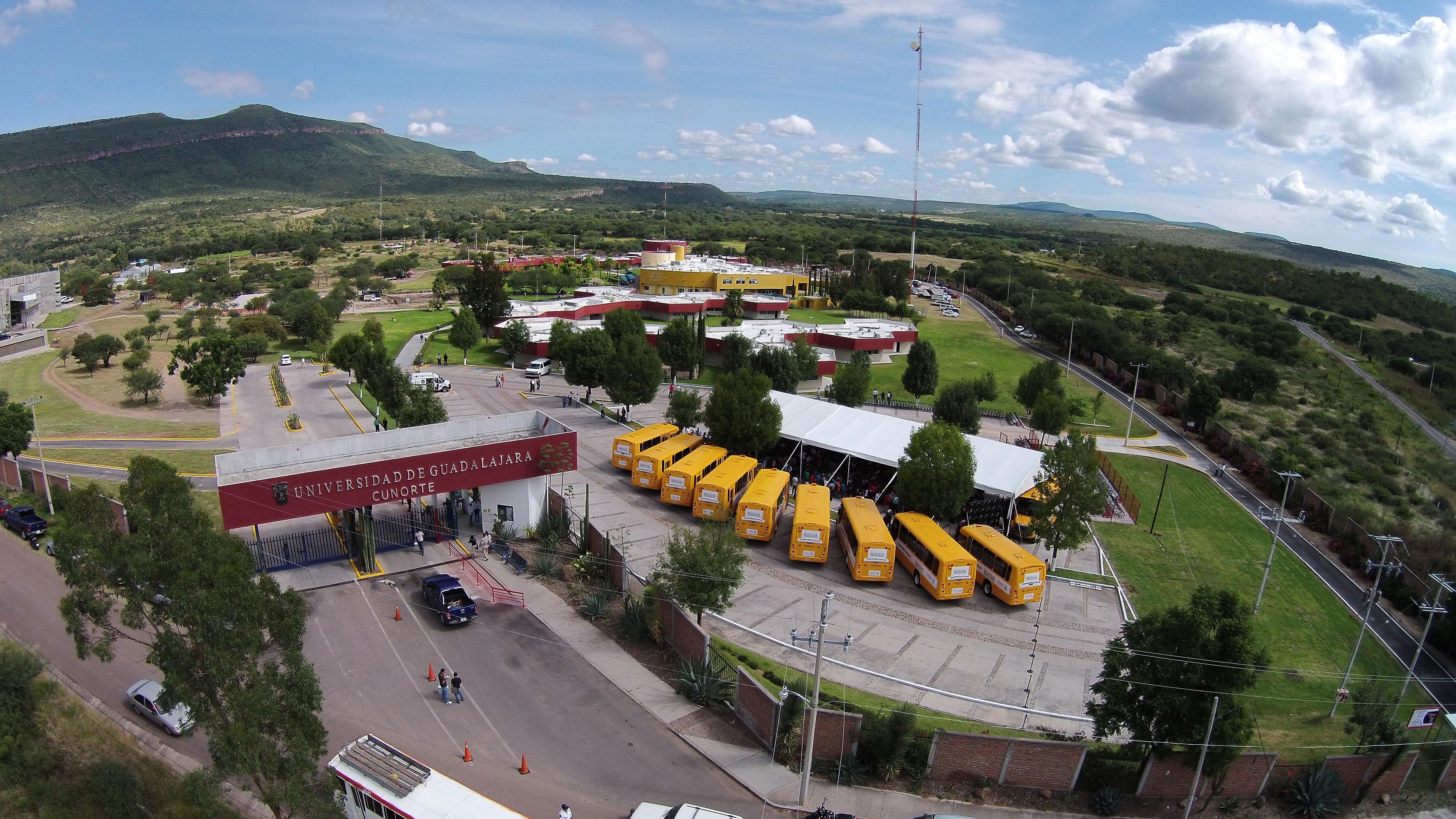 Vista aérea del Centro Universitario del Norte