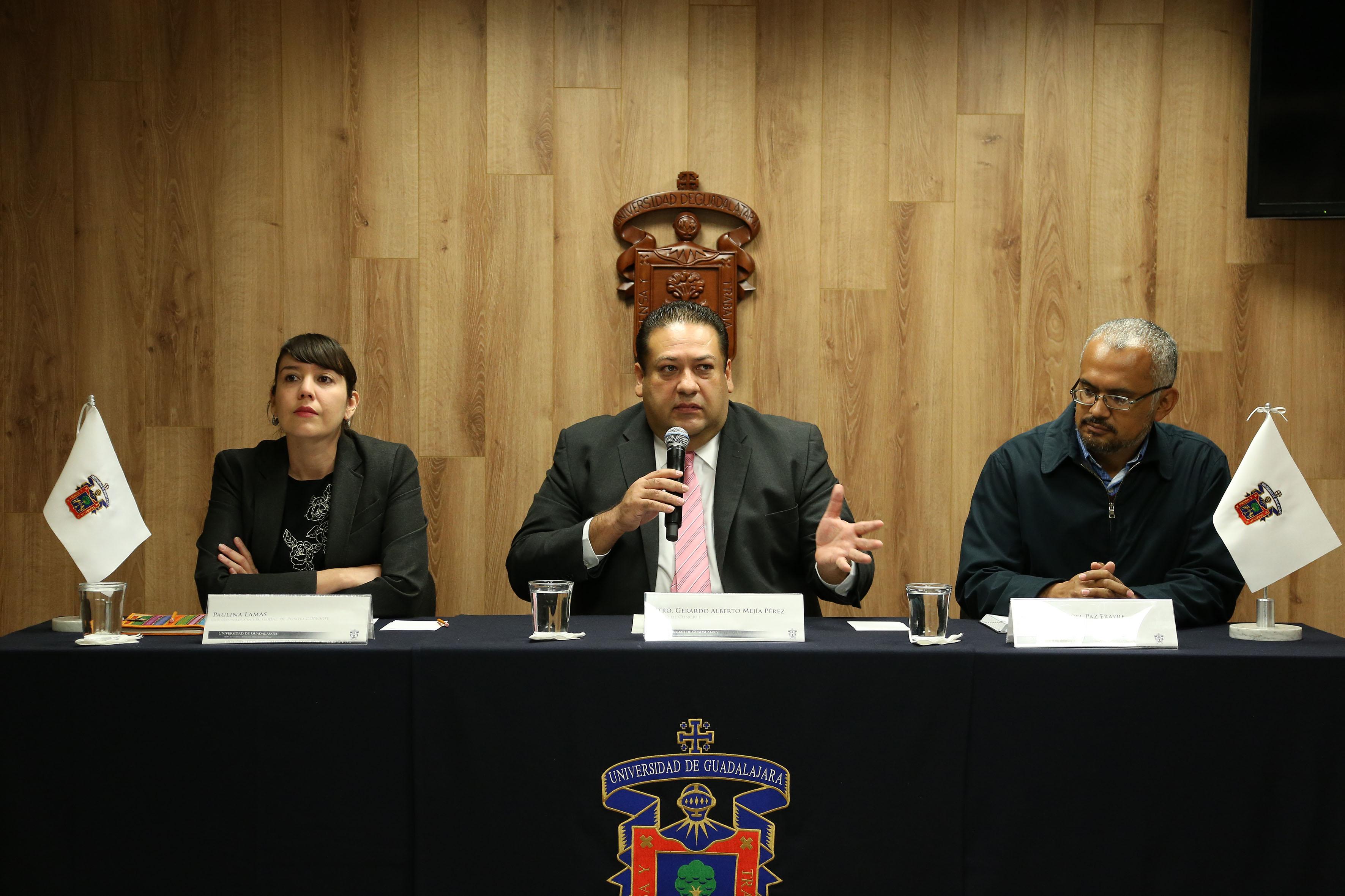 El Rector del Centro Universitario del Norte (CUNorte), maestro Gerardo Alberto Mejía Pérez.
