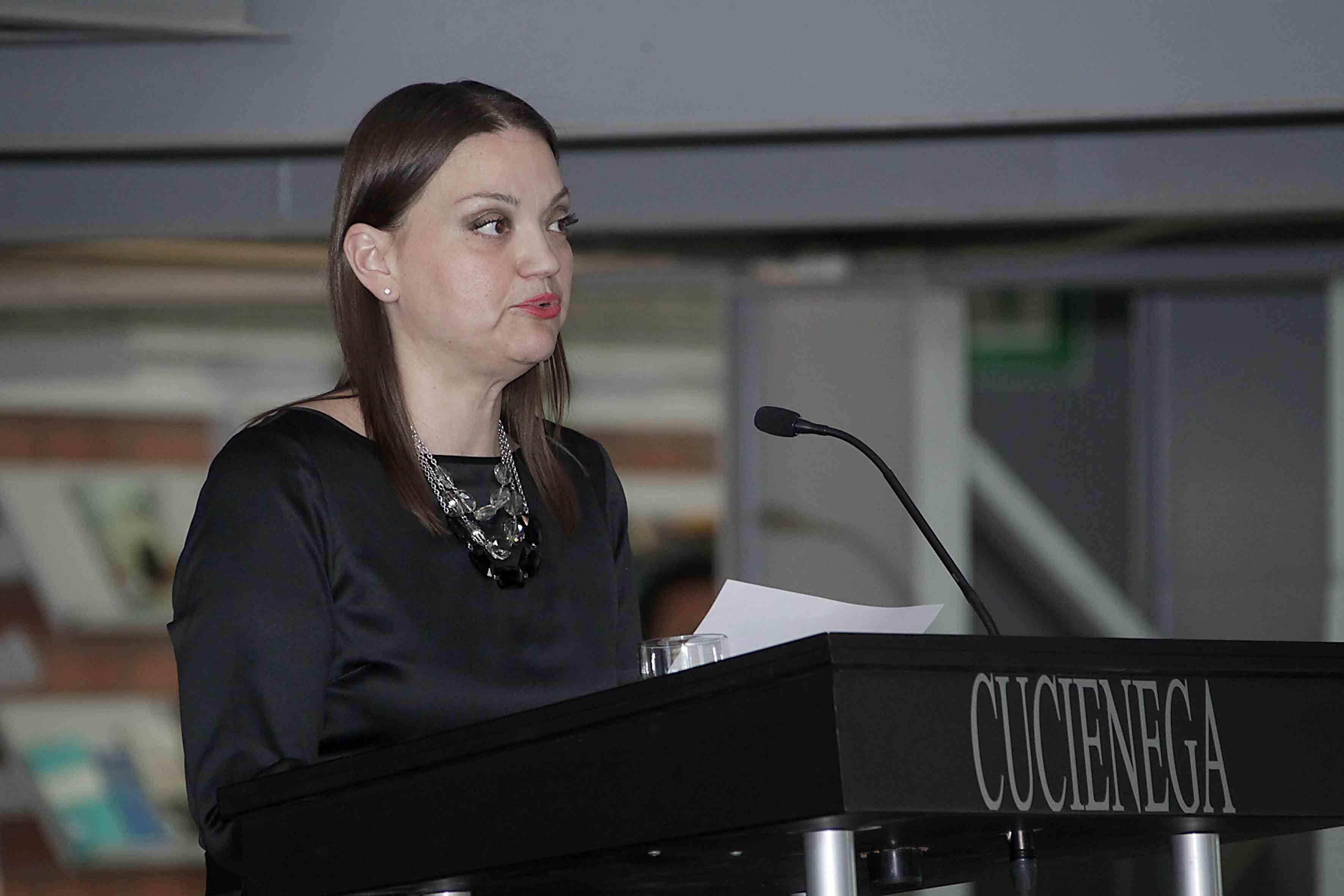Palabras de la maestra María Felícitas Parga Jiménez en su segundo informe de actividades como Rectora del CUCiénega.
