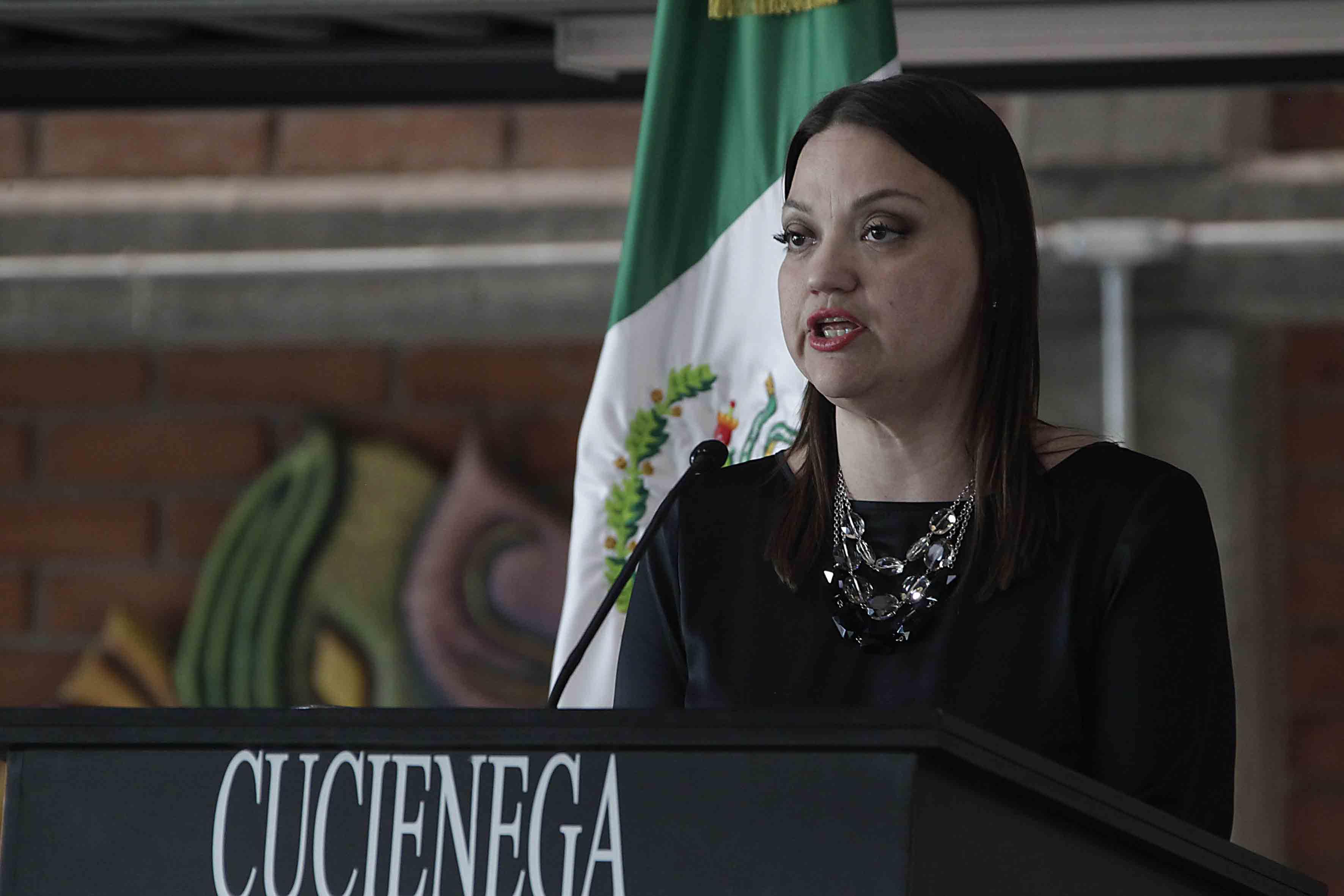 Maestra María Felícitas Parga Jiménez, Rectora del CUCiénega.