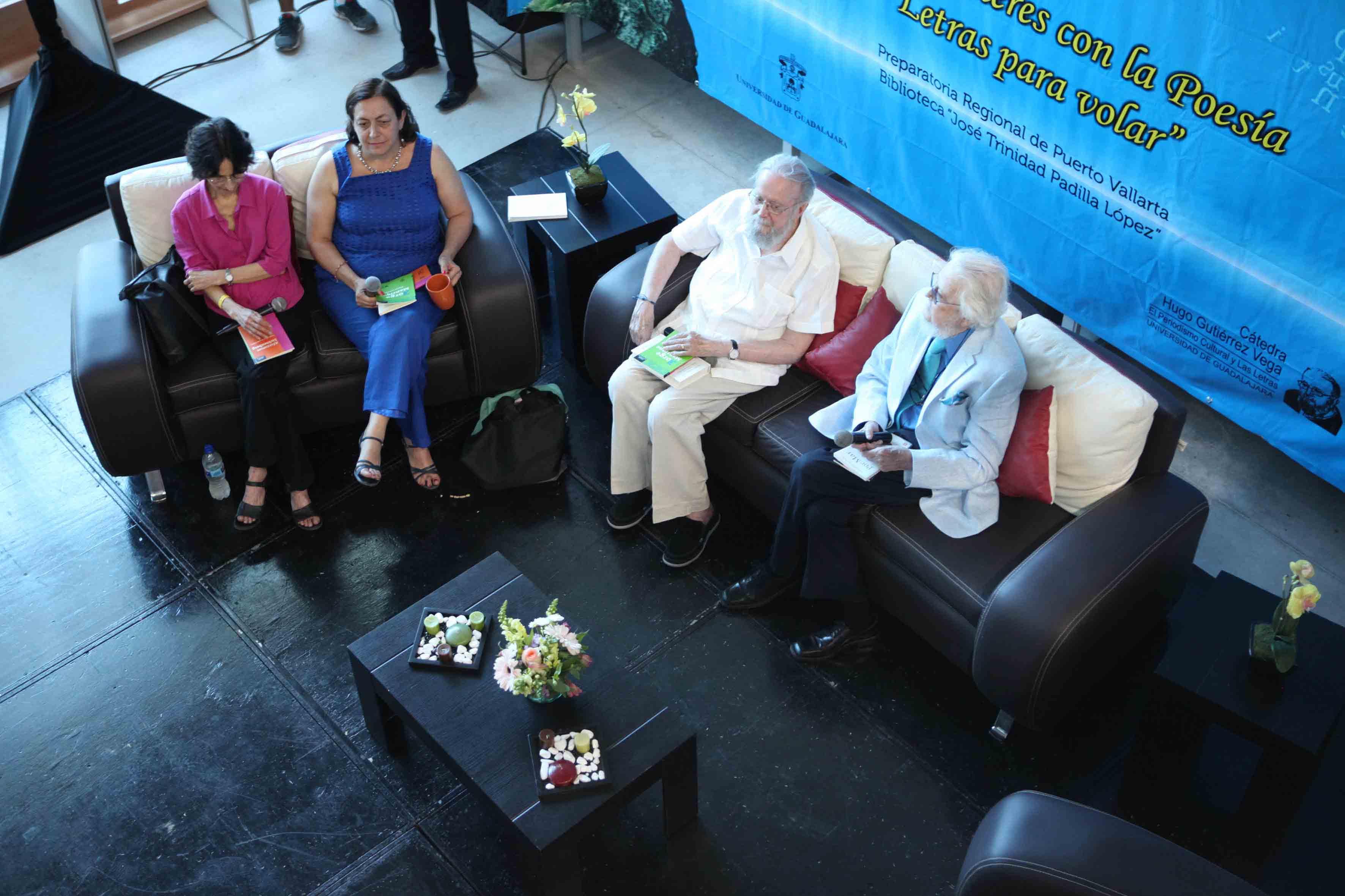 Fernando del Paso, Hugo Gutiérrez Vega, Carmen Villoro, Coral Bracho