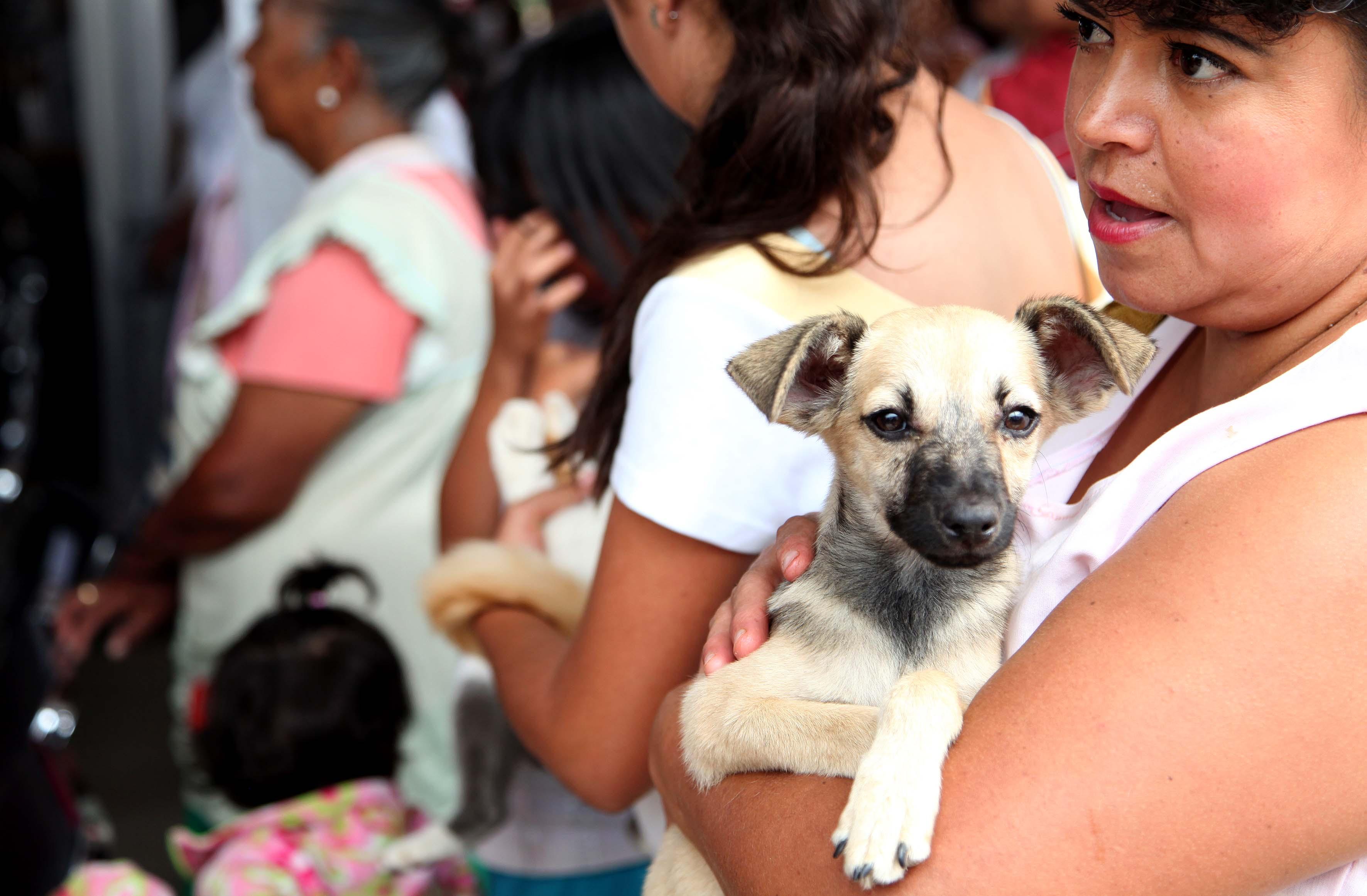 Mujere llevando su mascota a esterelizar
