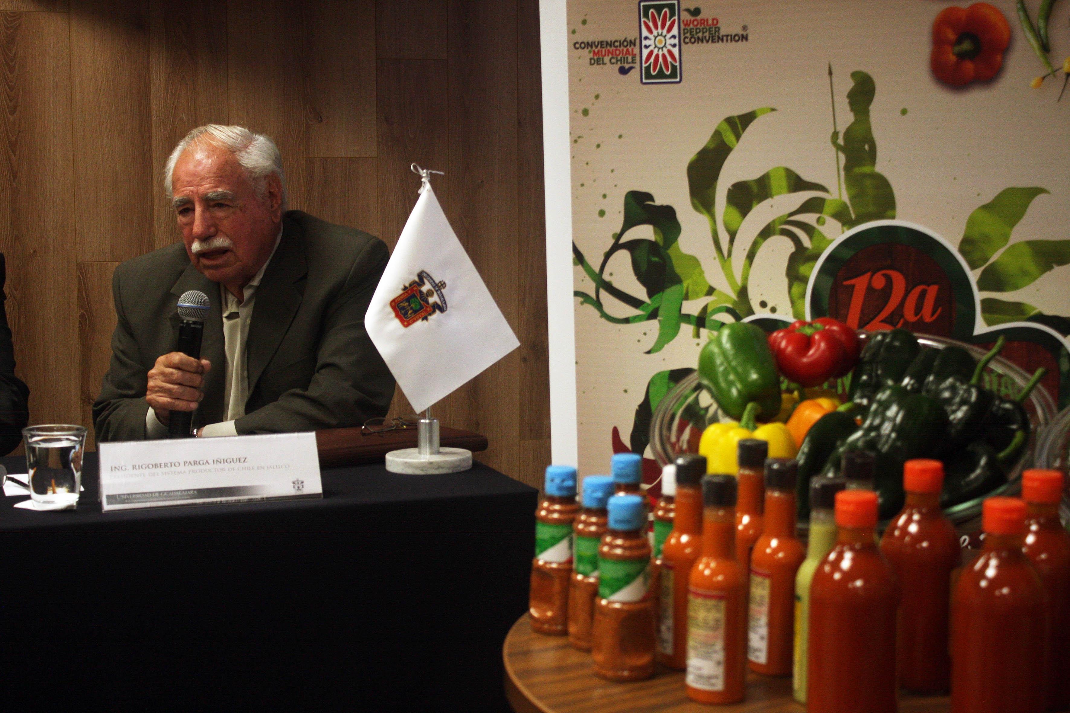 Ing. Rigoberto Parga Iniguez, Presidente del sistema productor de chile en Jalisco