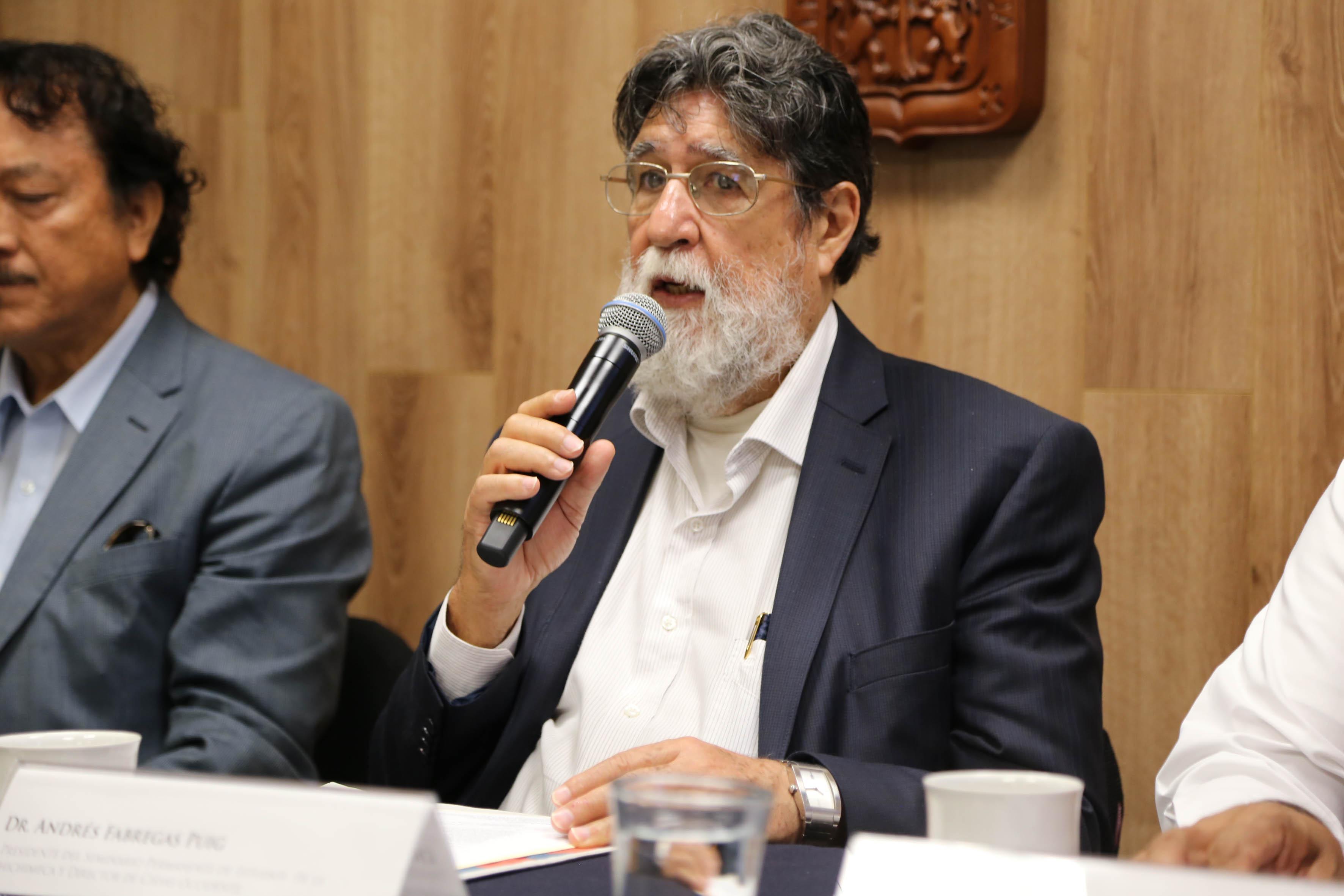 Dr. Andrés Fábregas, presidente del Seminario Permanente de Estudios de la Gran Chichimeca (SEPECH)