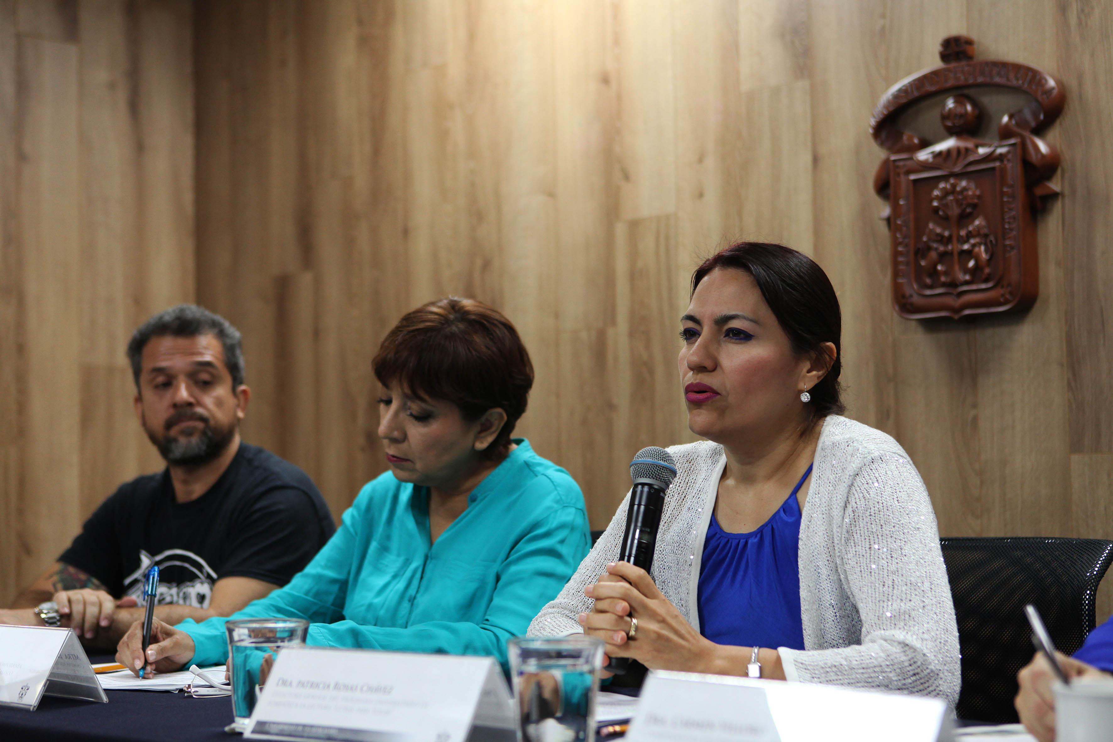 Dra. Patricia Rosas Chávez, haciendo uso de la palabra