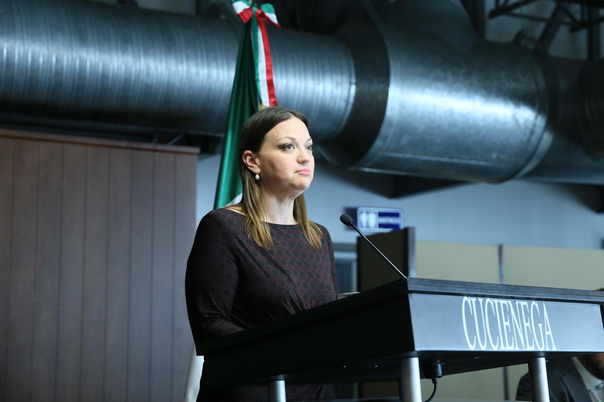 Mtra. María Felicitas Parga Jiménez Rectora del CUCienega