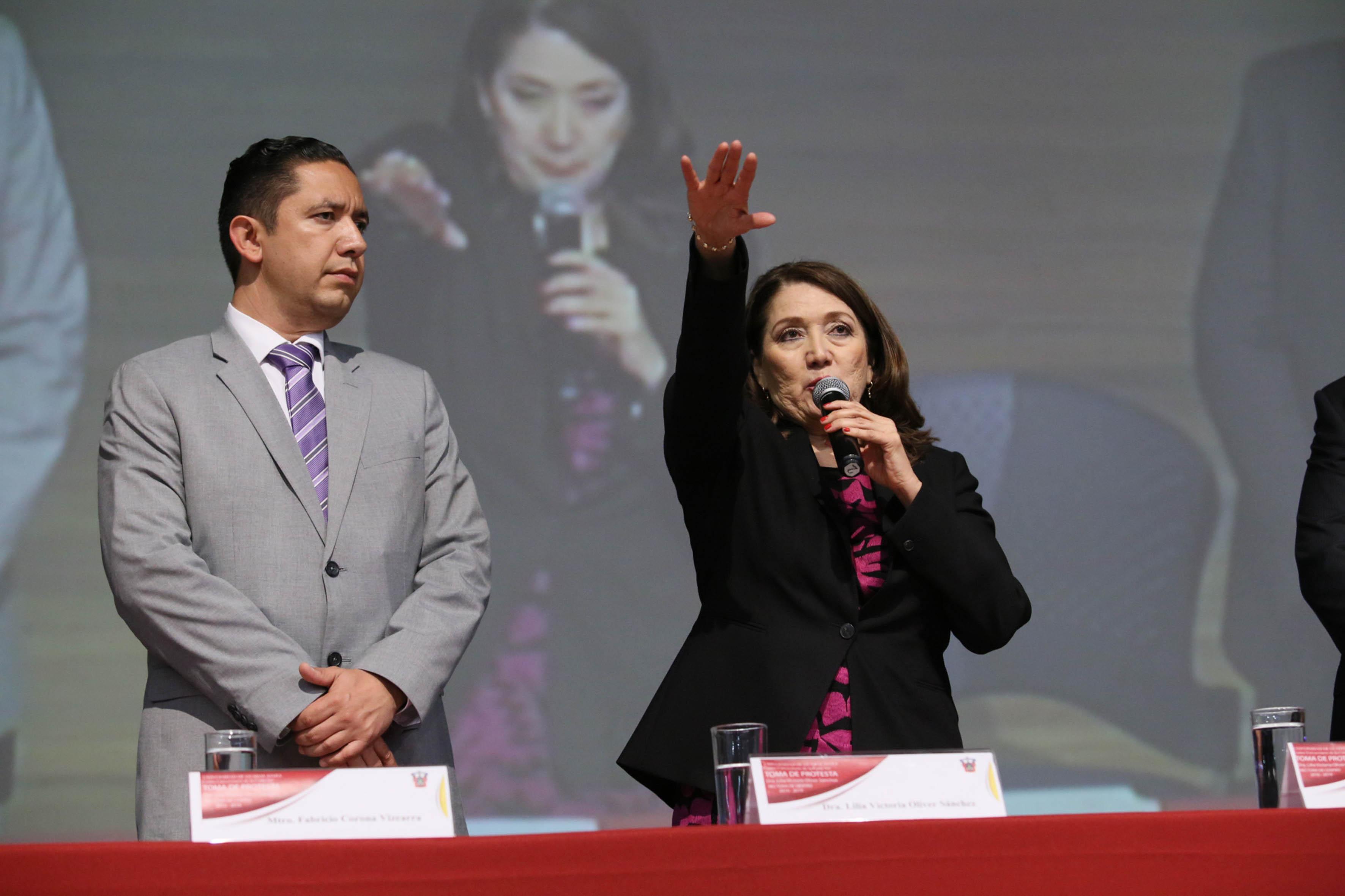 Toma de protesta de la doctora Lilia Victoria Oliver Sánchez, como la nueva Rectora del Centro Universitario de la Costa Sur (CUCSur), con sede en Autlán de Navarro, para el período 2015-2019.