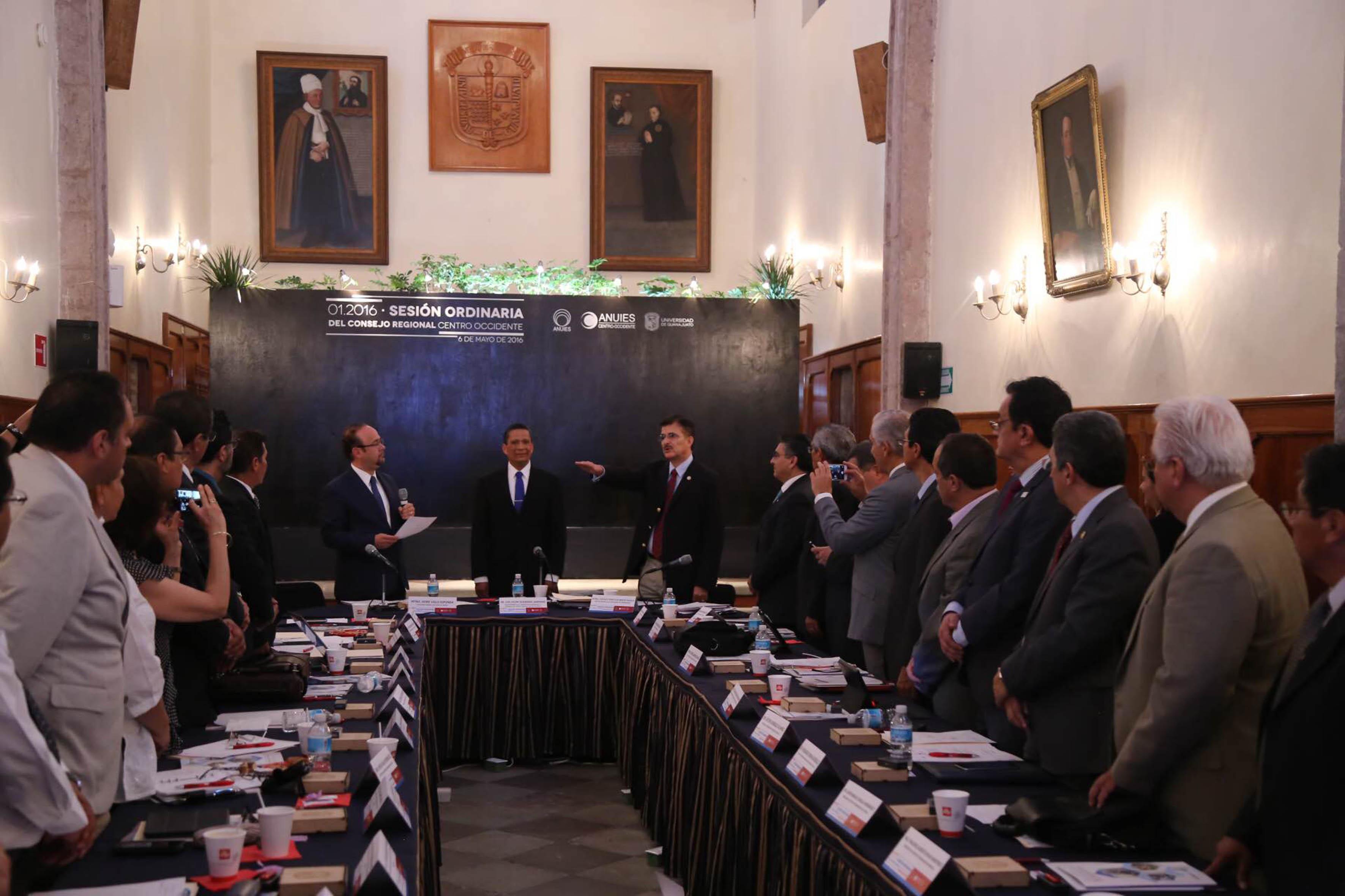 Sesión ordinaria del Consejo de la Región Centro-Occidente de la Asociación Nacional de Universidades e Instituciones de Educación Superior (Anuies)