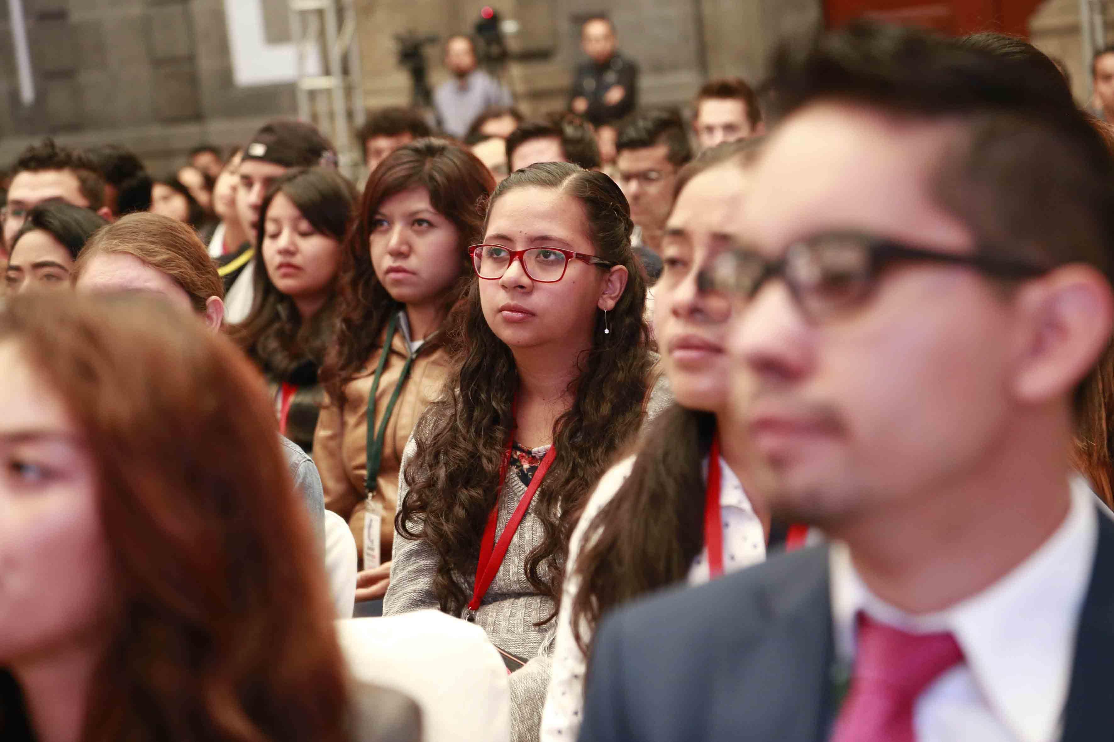 Alumnos asistentes al evento
