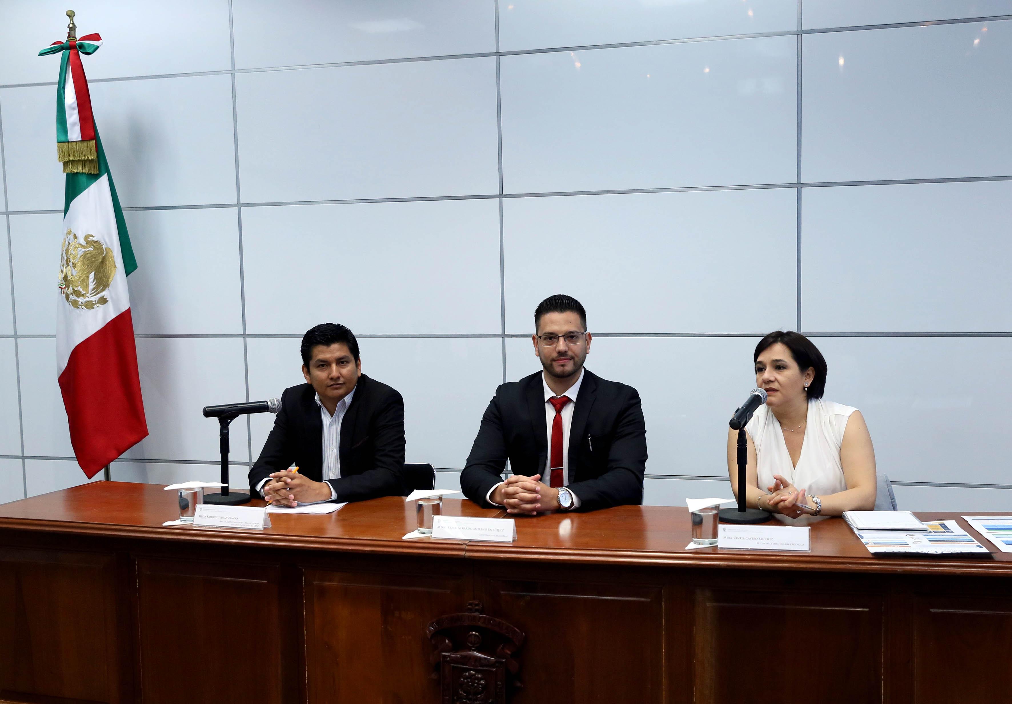 Conferencia de prensa, donde se dió a conocer el Programa de Formación, Actualización y Capacitación Docente.