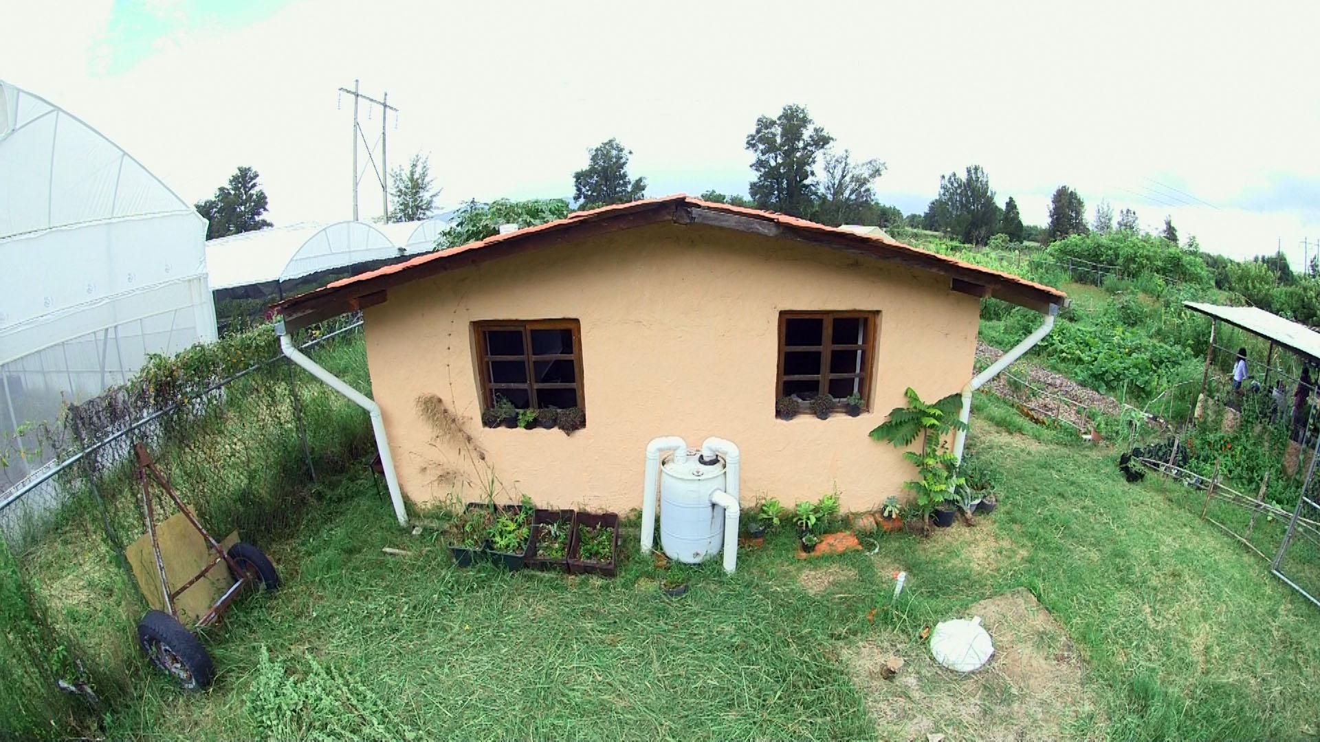 """Proyecto """"Casa de Paja"""", construido en las instalaciones del CUCBA"""