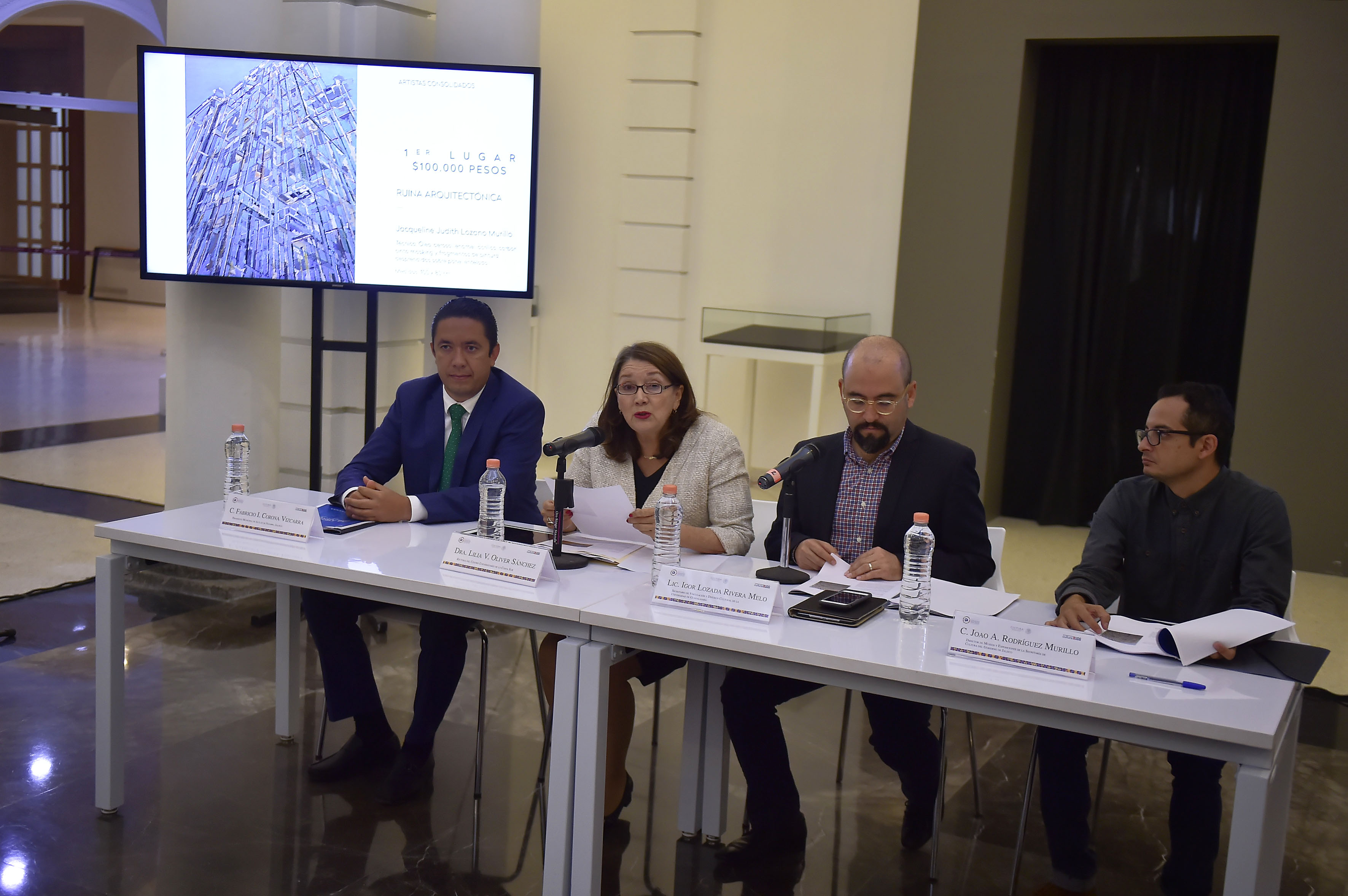 """Rueda de prensa para dar a conocer a los ganadores de la III Bienal de Pintura """"José Atanasio Monroy"""""""