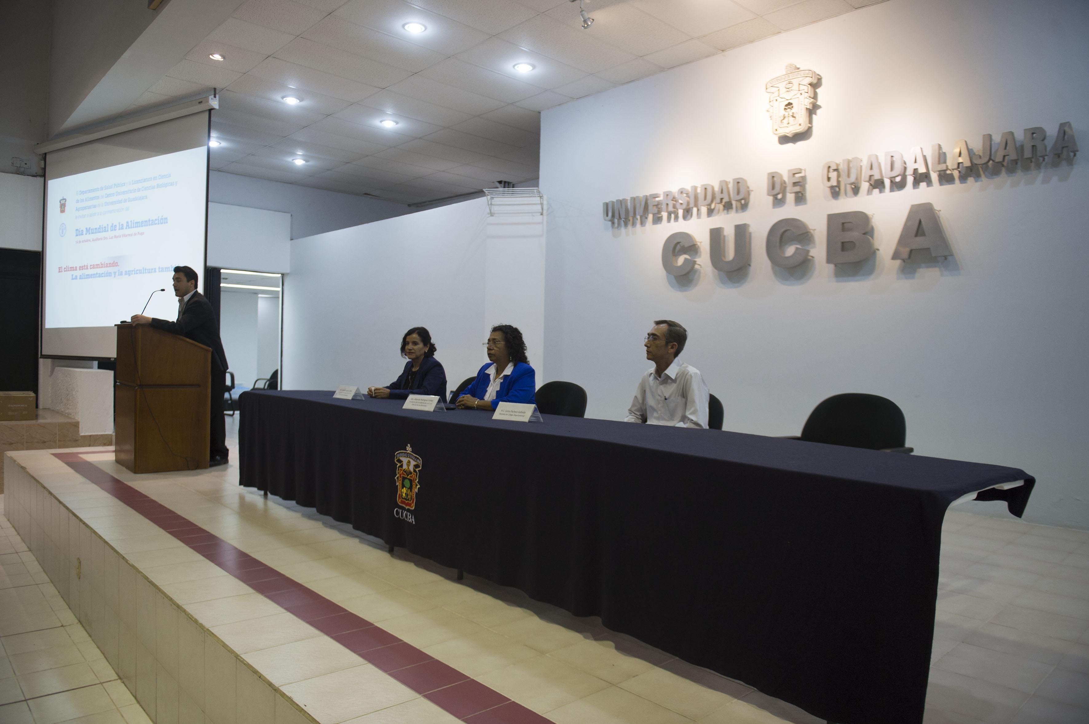 Centro Universitario de Ciencias Biológicas y Agropecuarias (CUCBA), durante la conmemoración del Día Mundial de la Alimentación,