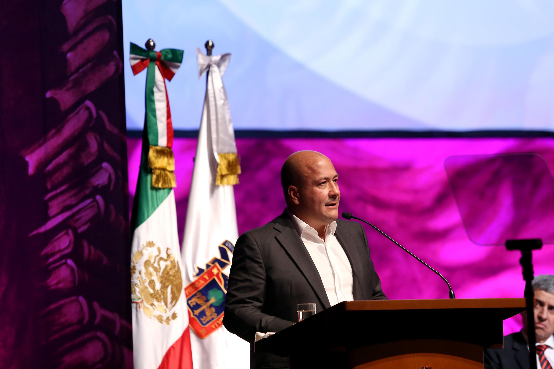 El Gobernador de Jalisco, maestro Enrique Alfaro Ramírez, en uso de la palabra