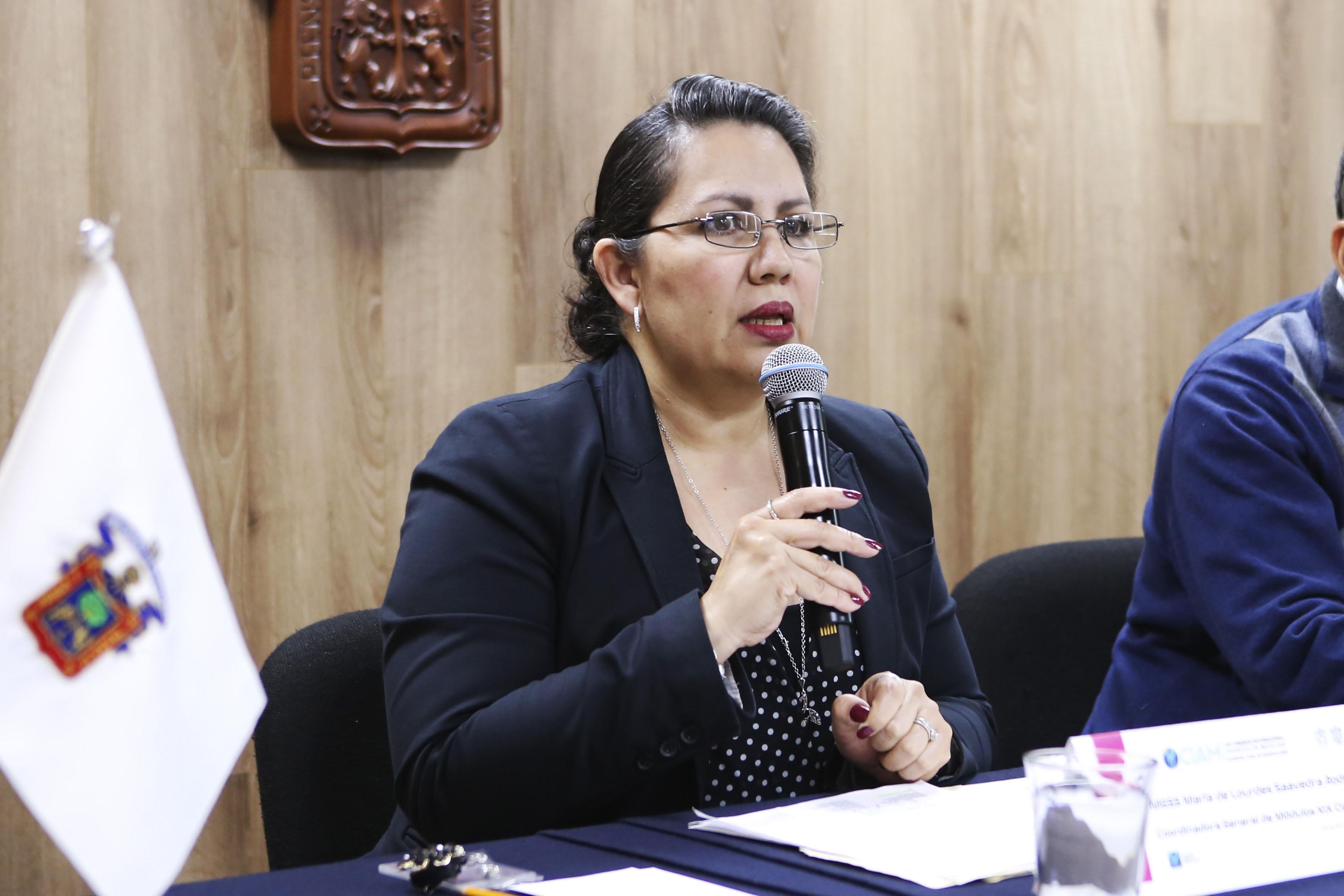 La maestra María de Lourdes Saavedra Rodríguez, coordinadora general de Módulos del CIAM