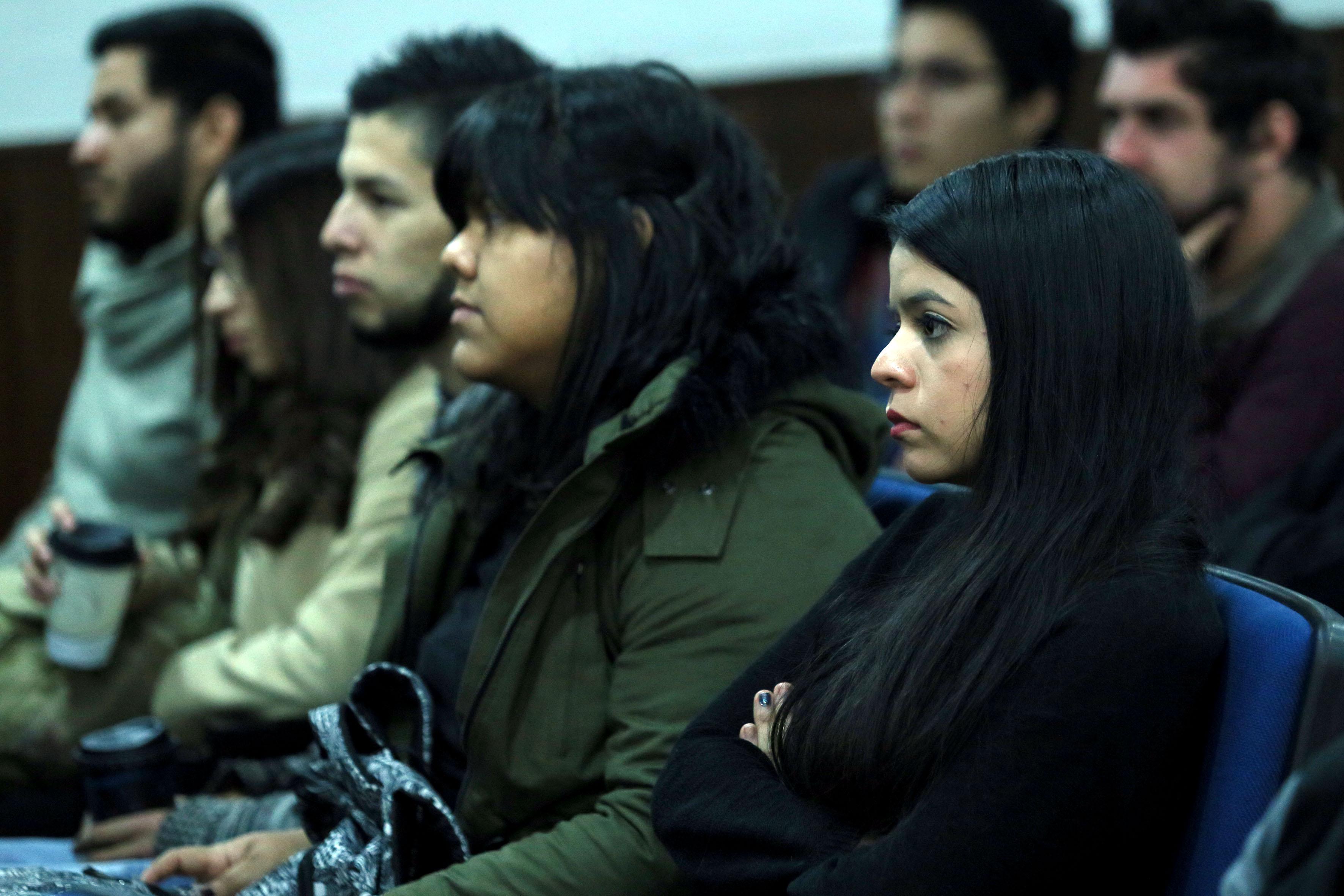 Estudiantes del Centro Universitario de Ciencias Sociales y Humanidades (CUCSH), asistentes a la conferencia.
