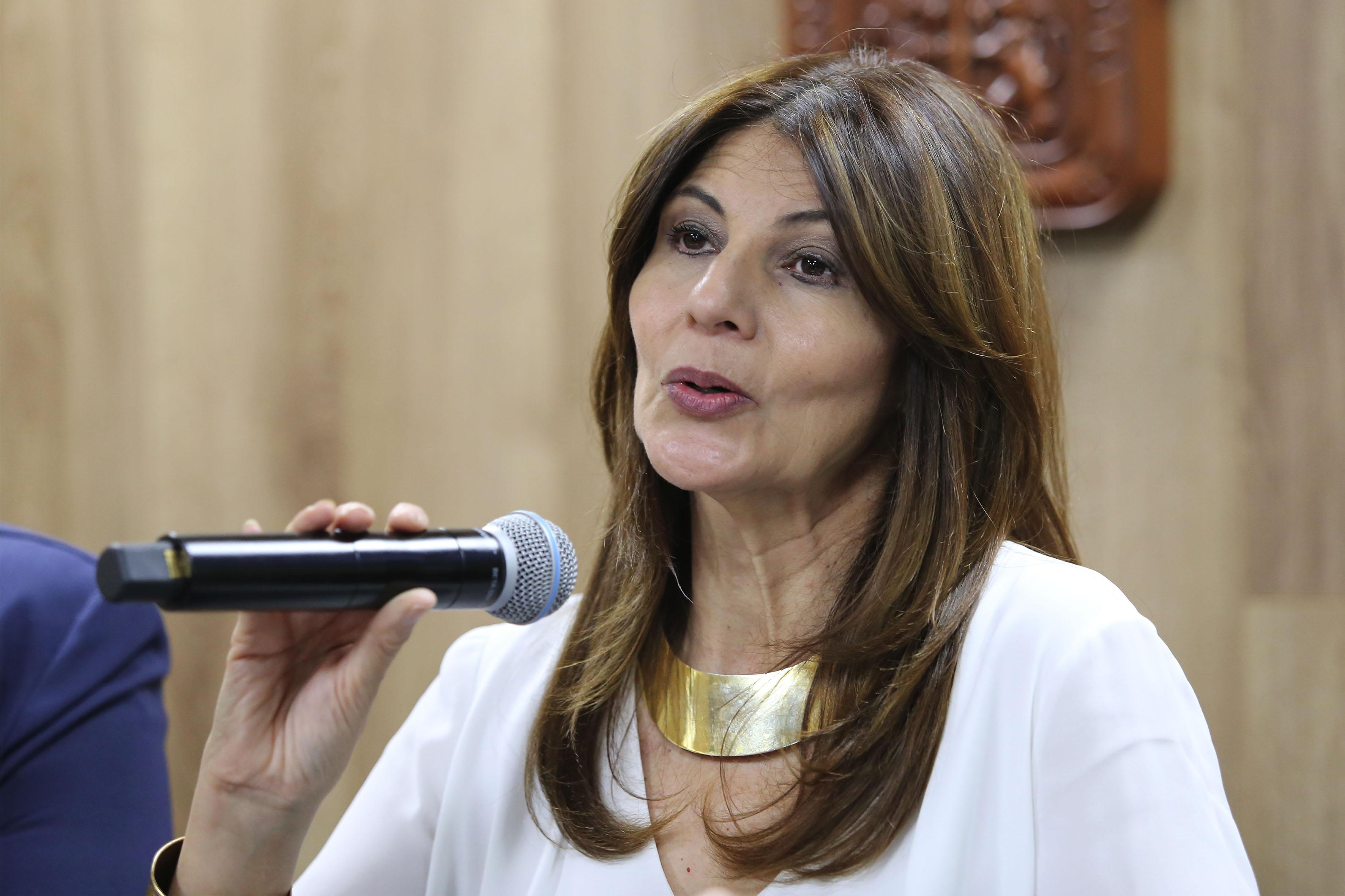 Dra. Raquel Partida Rocha haciendo uso de la voz