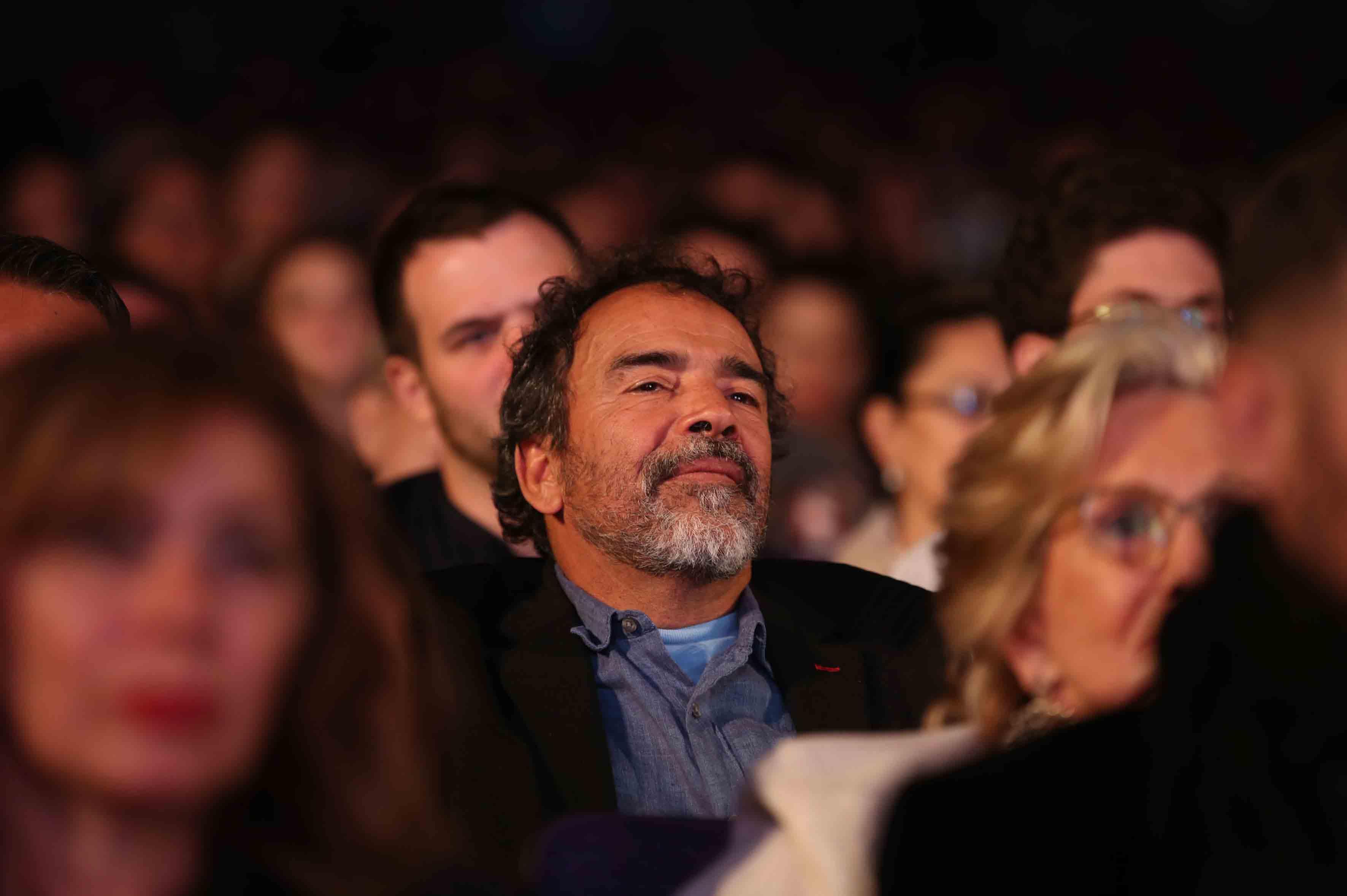Damián Alcázar, actor mexicano, asistente a la inauguración del Festival Internacional del Cine en Guadalajara, en las instalaciones del Auditorio Telmex.