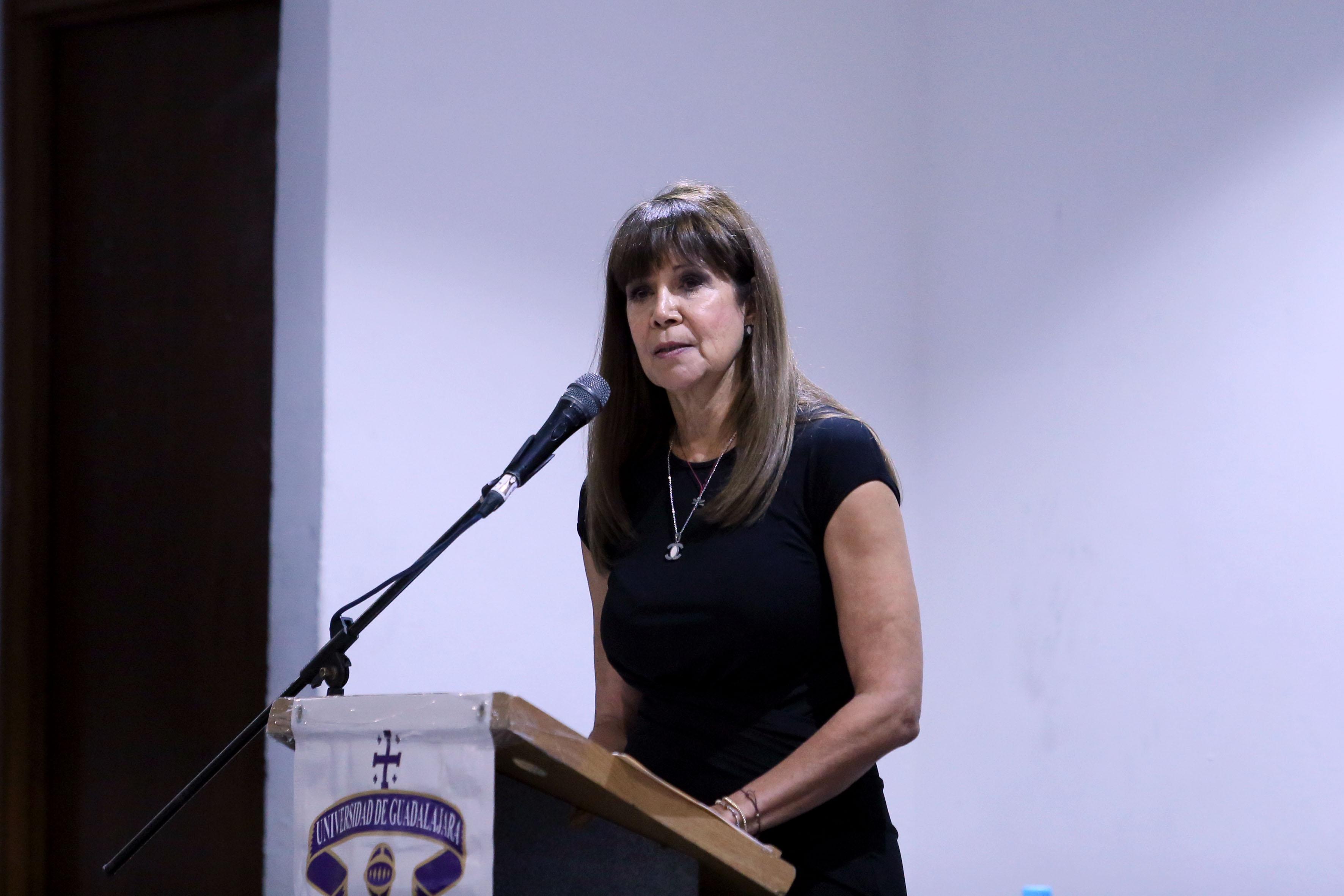 Titular de la Coordinación de Cultura Física, doctora Georgina Contreras de la Torre
